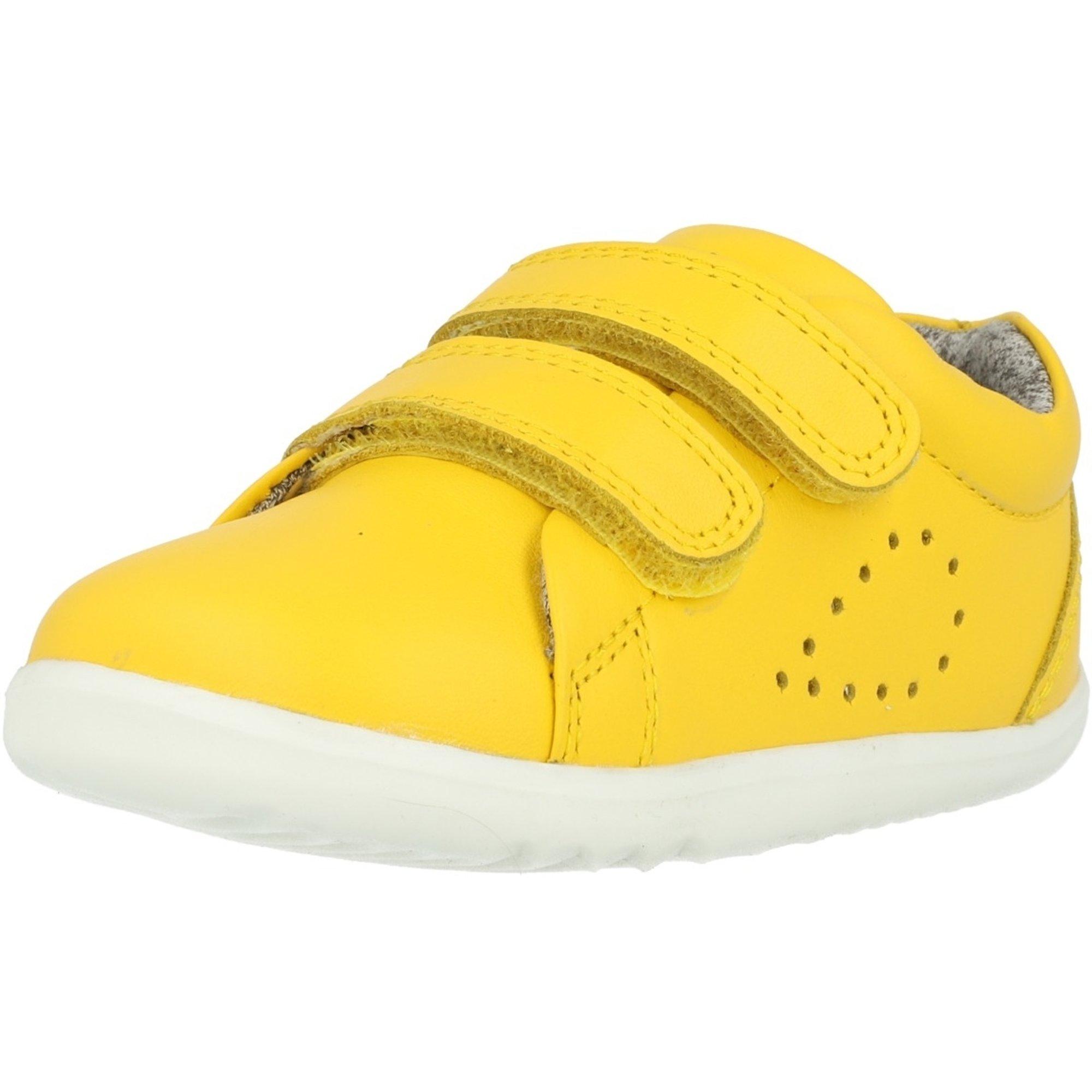 Bobux Step Up Grass Court Lemon Leather Infant