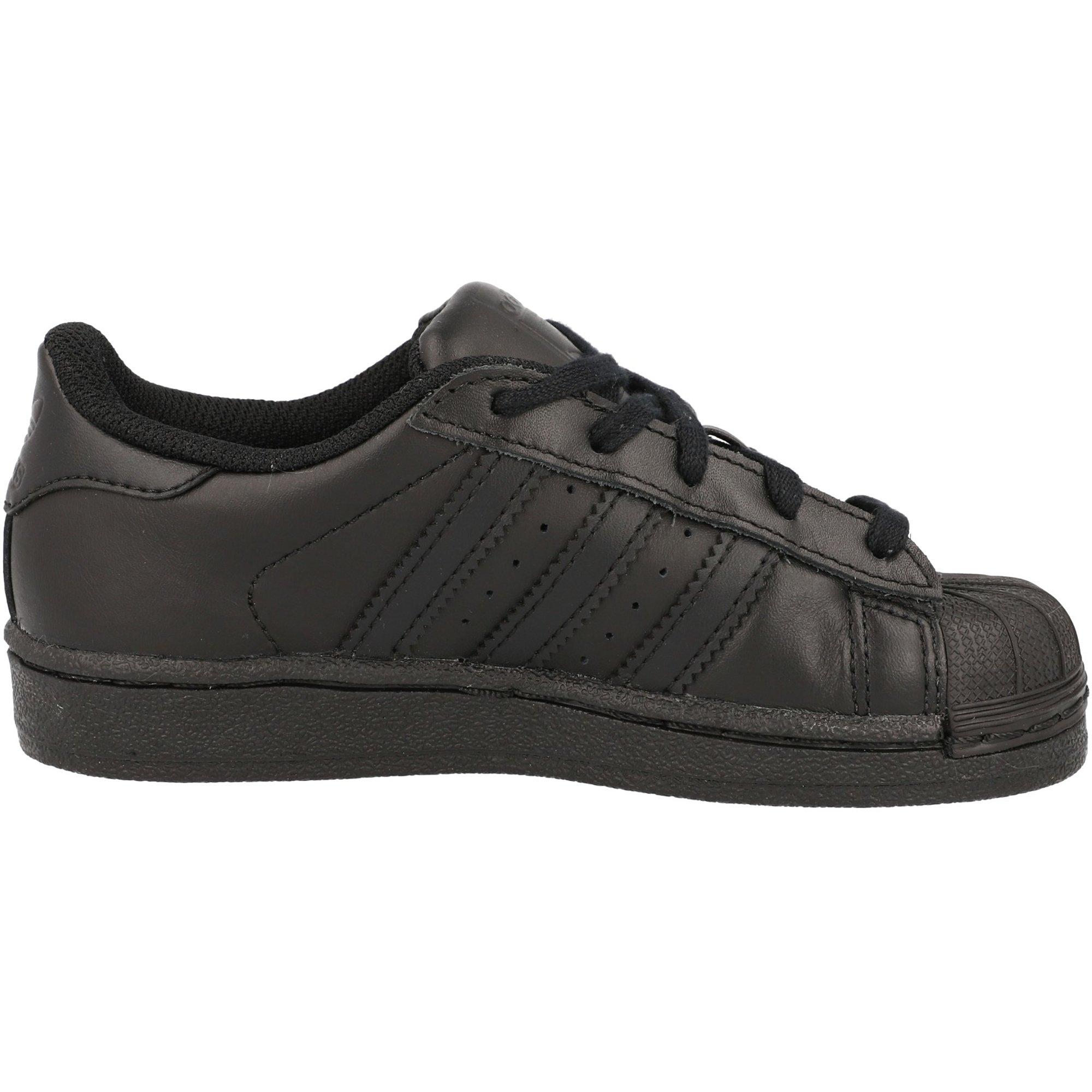 adidas Originals Superstar C Black Leather Junior