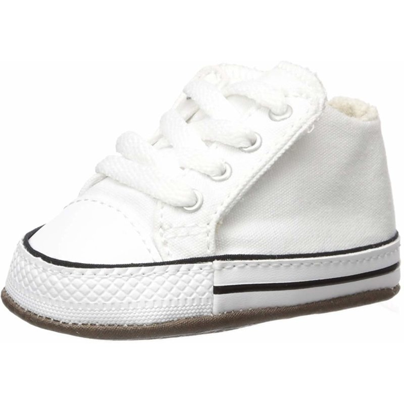 Details about Converse Chuck Taylor All Star Cribster Mid White Canvas Baby Soft Soles Shoes