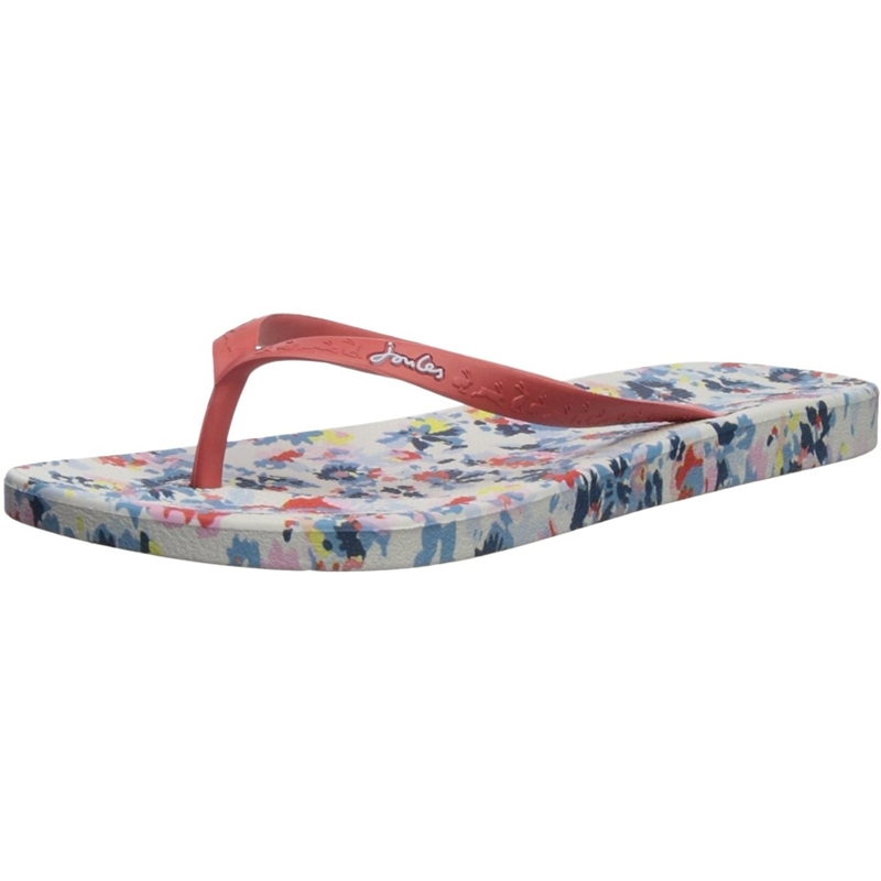Joules Printed Moulded Flip Flop Floral Giallo Gomma Adulto