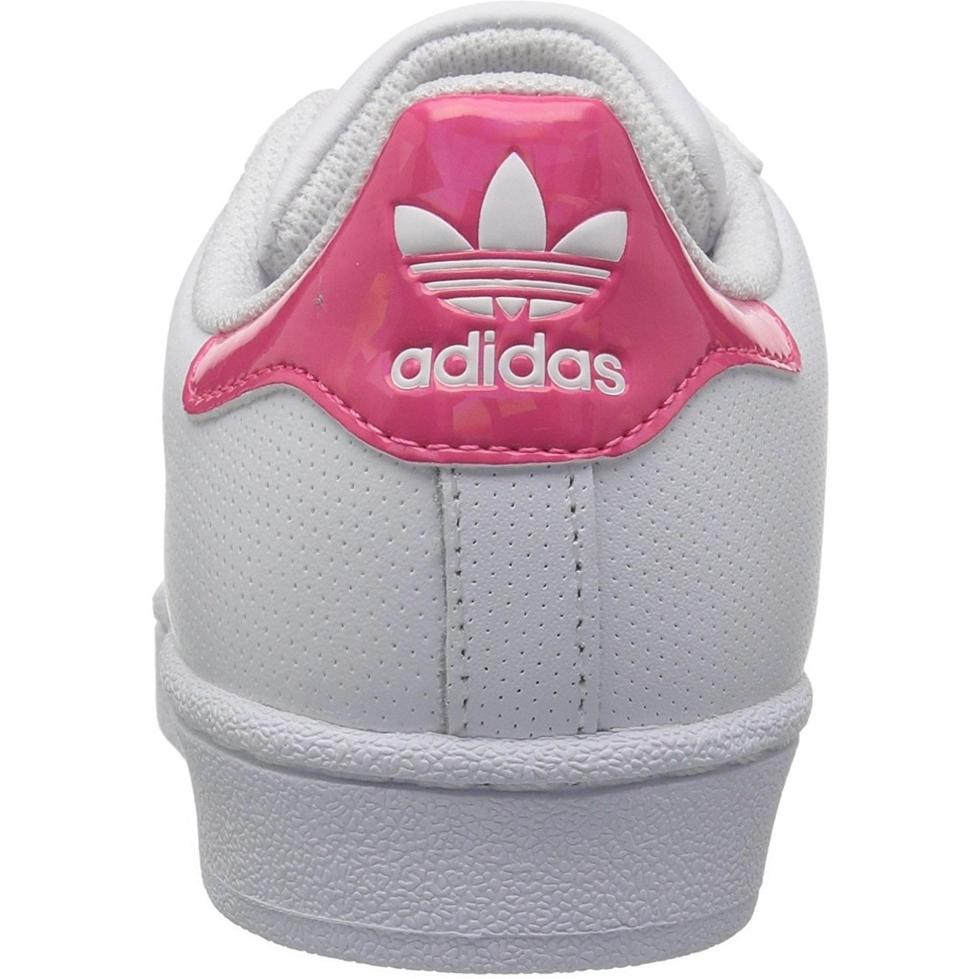 adidas Originals Superstar J WeißEcht Pink Leder Trainer