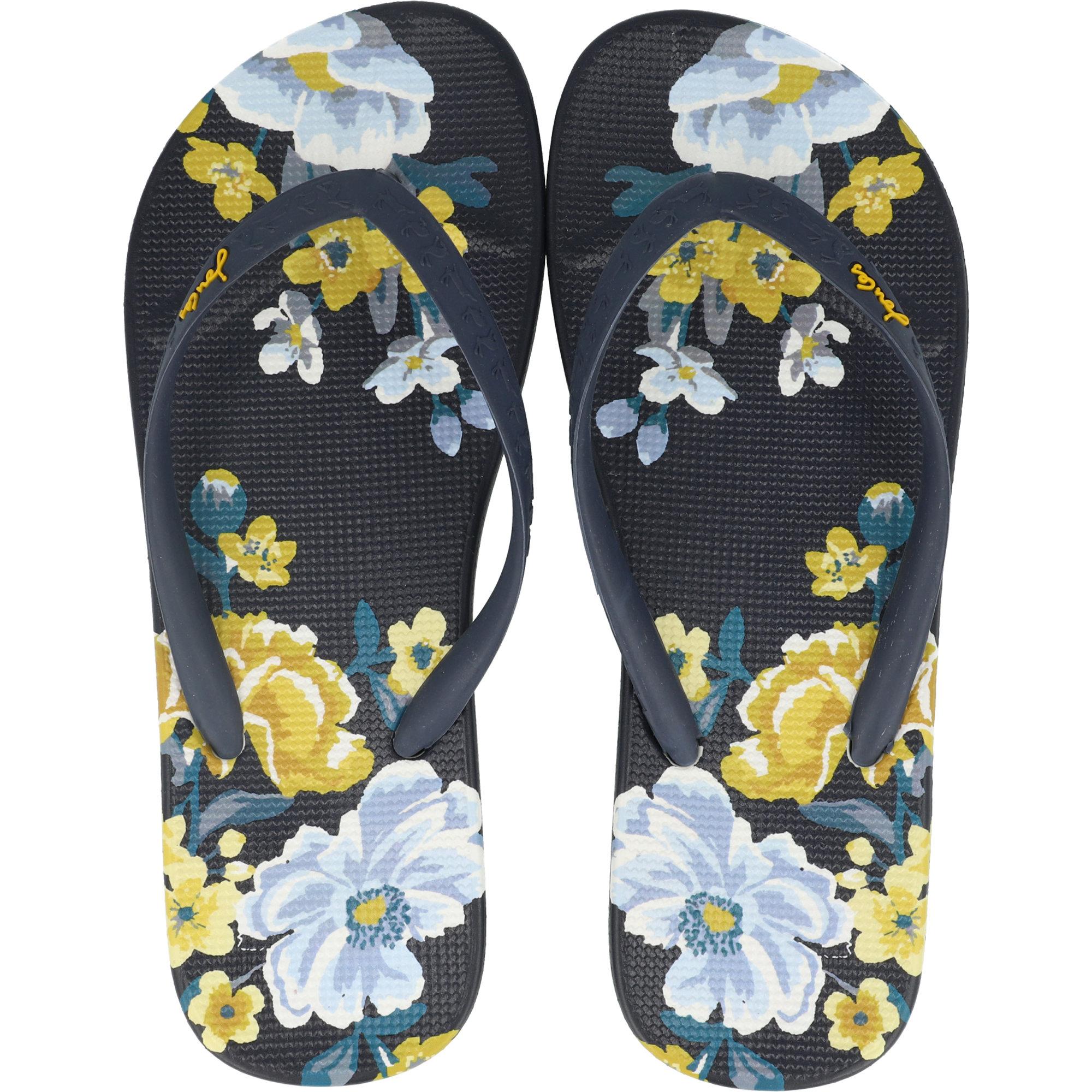 Joules Womens Flip Flops in NAVY BOTANICAL