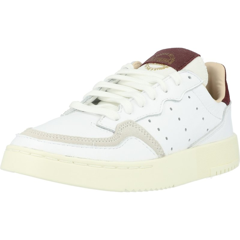 Details about adidas Originals Supercourt W WhiteMaroon Leather Adult Trainers Shoes
